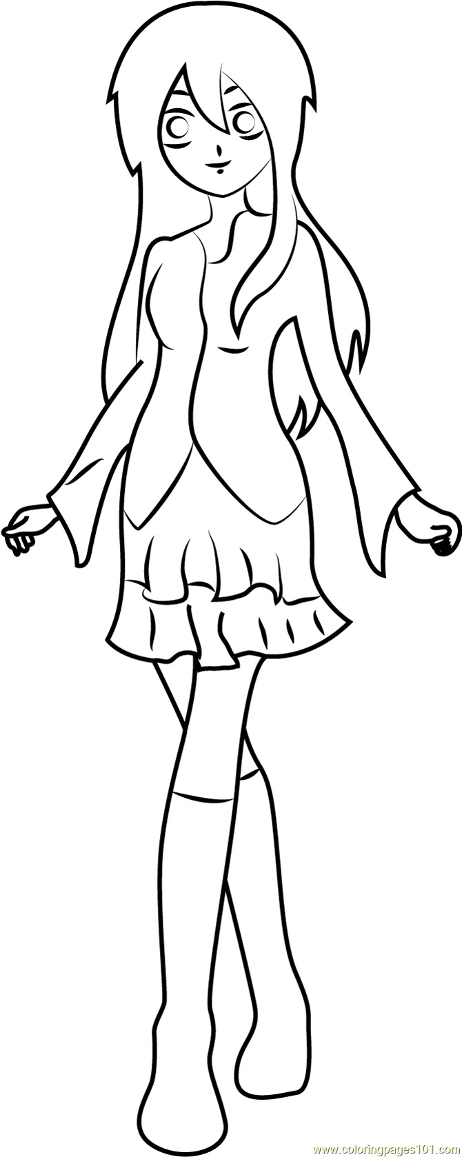 Cute Runo Coloring Page