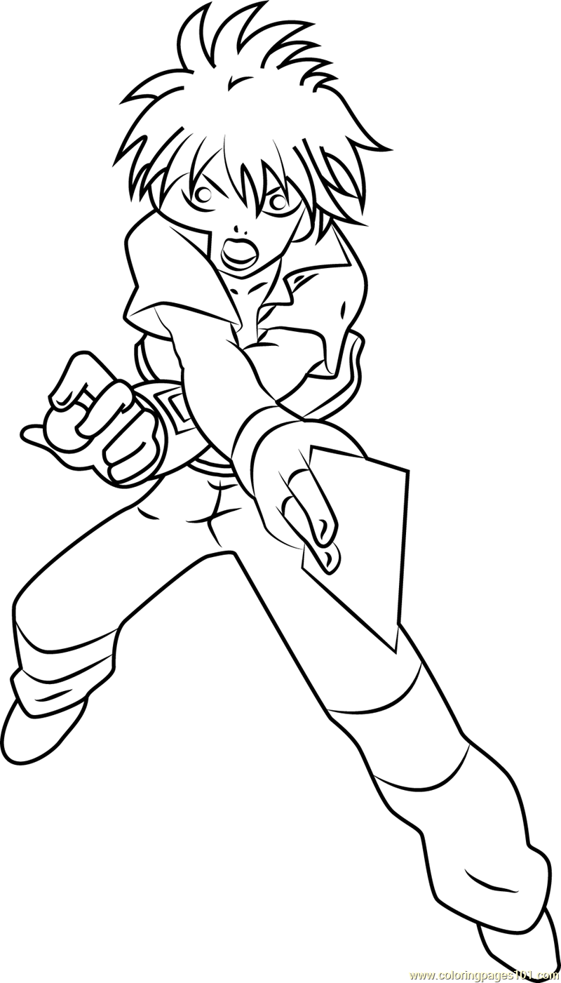 Dan Kuso full Coloring Page