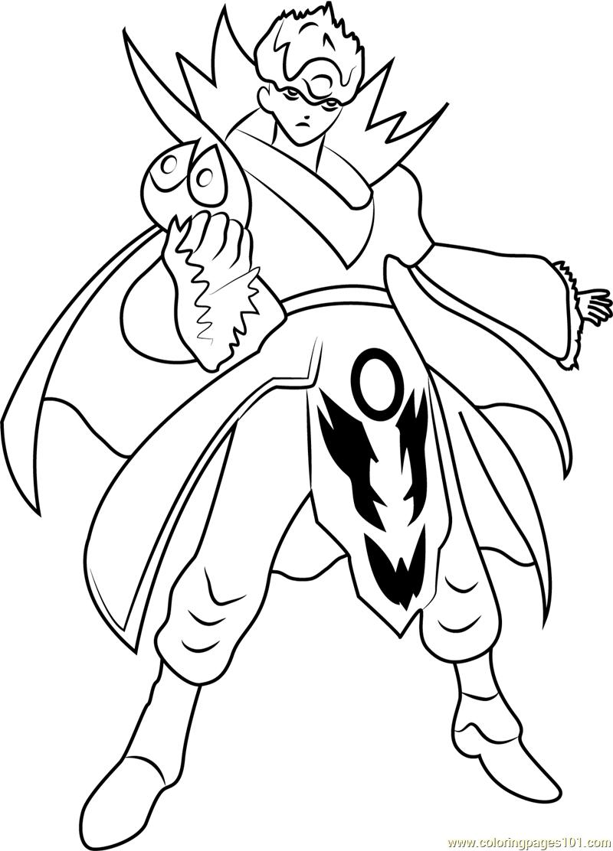 Gill Coloring Page - Free Bakugan Battle Brawlers Coloring ...