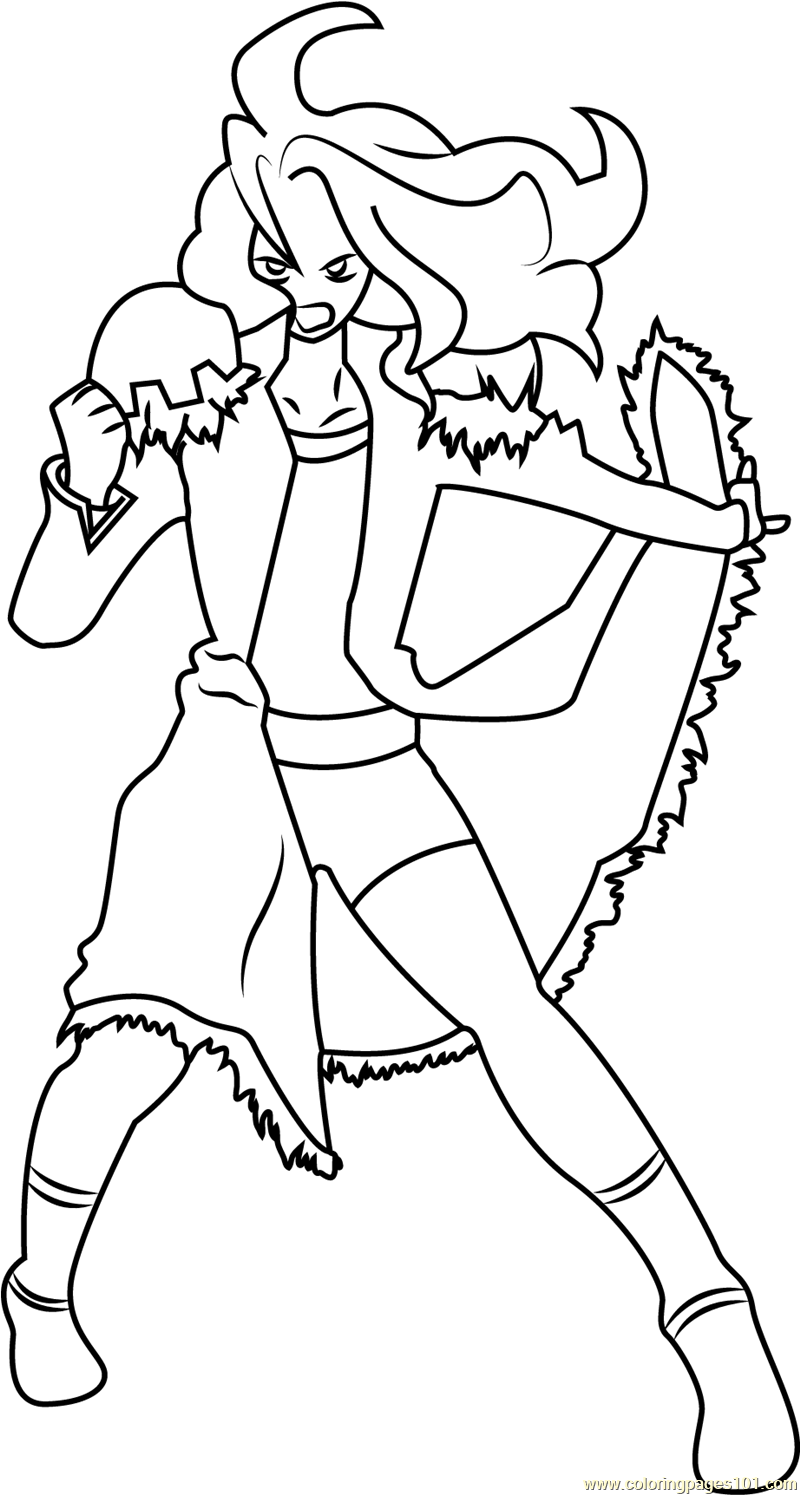 Gus Grav Coloring Page
