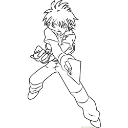 Dan Kuso full Free Coloring Page for Kids