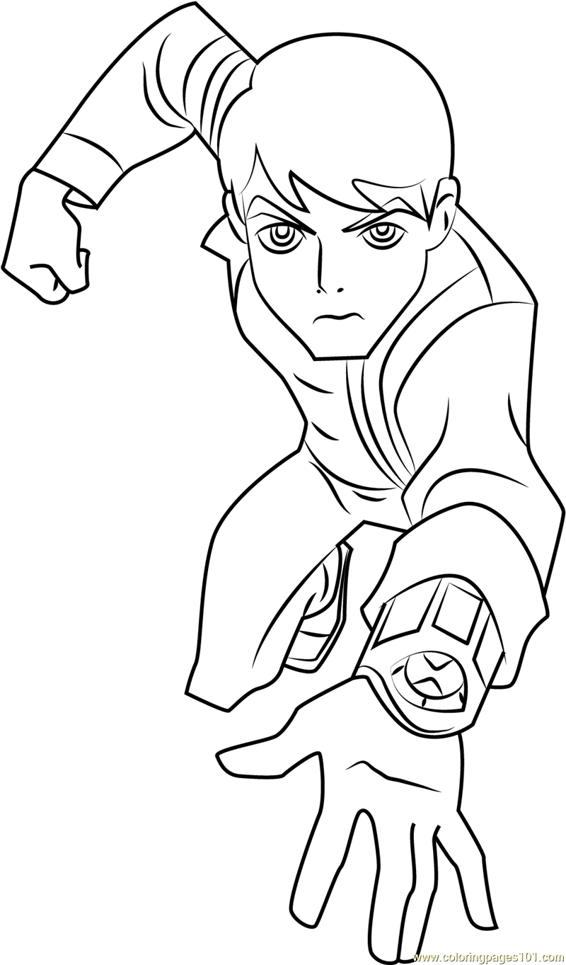 ben 10 omniverse coloring page - Ben Ten Coloring Pages
