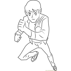 Ben Running Free Coloring Page for Kids