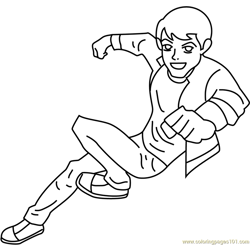 Happy Ben Free Coloring Page for Kids
