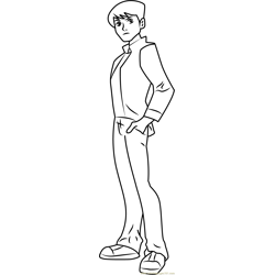 Standing Ben coloring page