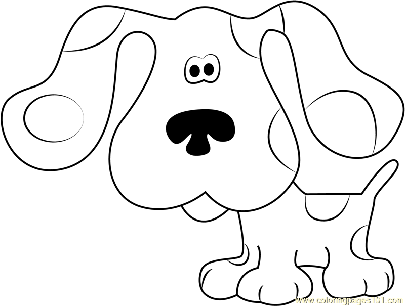 Blue Blue Coloring Page - Free Blue's Clues Coloring Pages ...