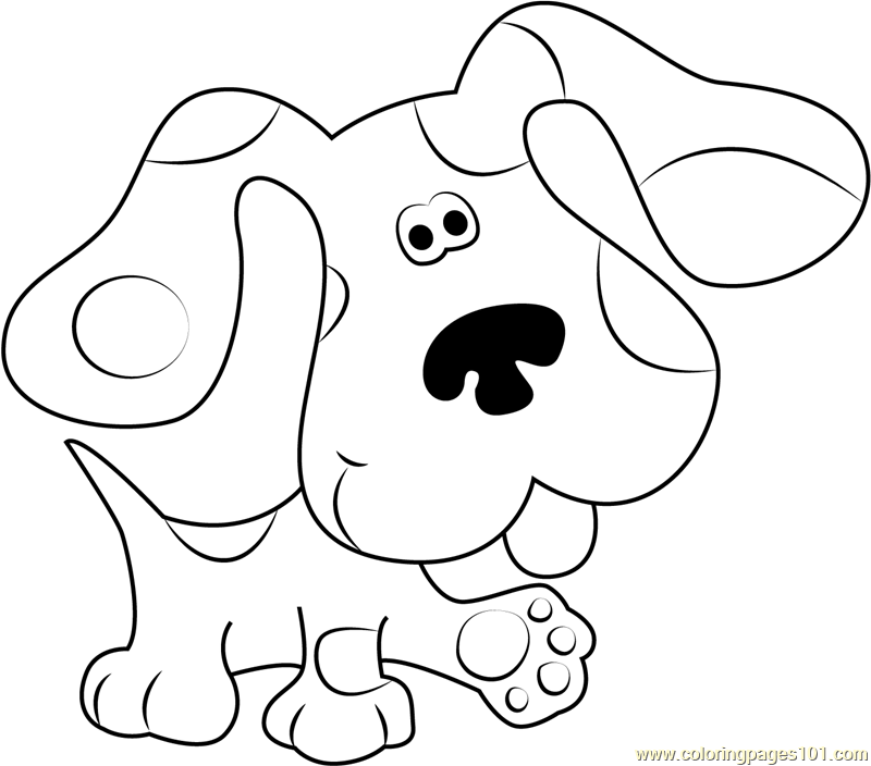 blues clues walking coloring page