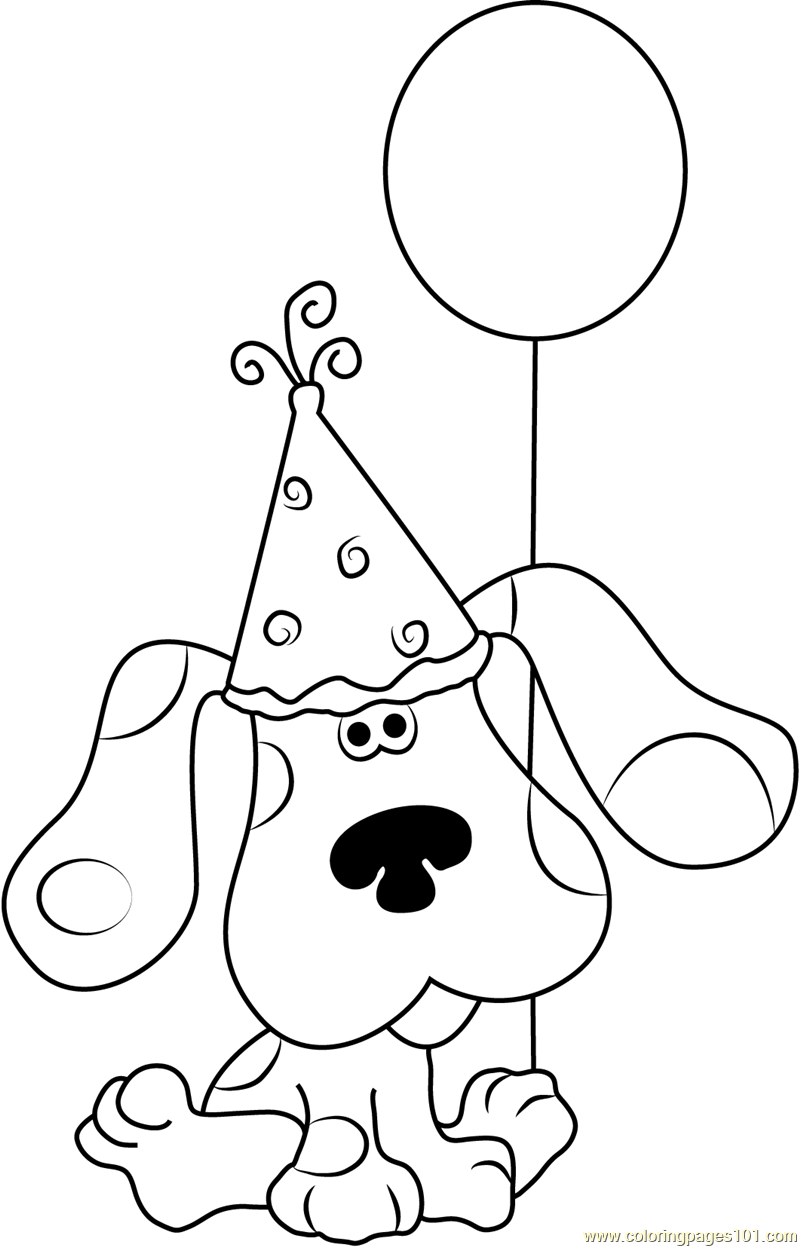 Happy Birthday Blue Clues Coloring Page - Free Blue\'s Clues Coloring ...