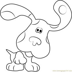 Blue Puppy Free Coloring Page for Kids