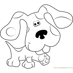 Blues Clues Walking Free Coloring Page for Kids