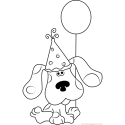 Happy Birthday Blue Clues Free Coloring Page for Kids