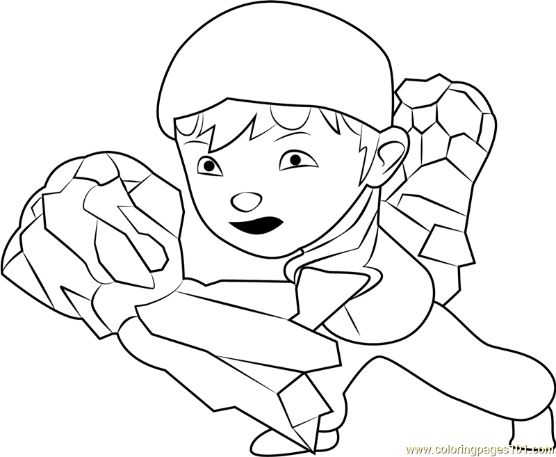BoBoiBoy Earth Coloring Page