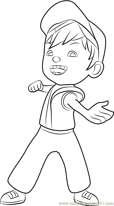 Boboiboy Fire Coloring Page Free Boboiboy Coloring Pages