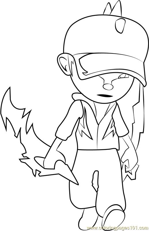 BoBoiBoy Lightning Coloring Page
