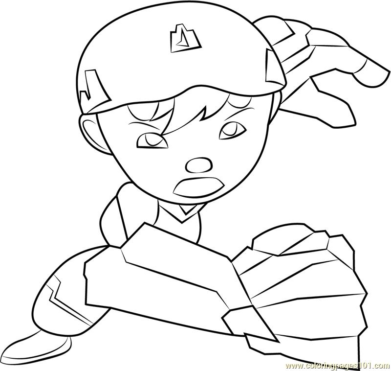 BoBoiBoy Quake Coloring Page Free BoBoiBoy Coloring