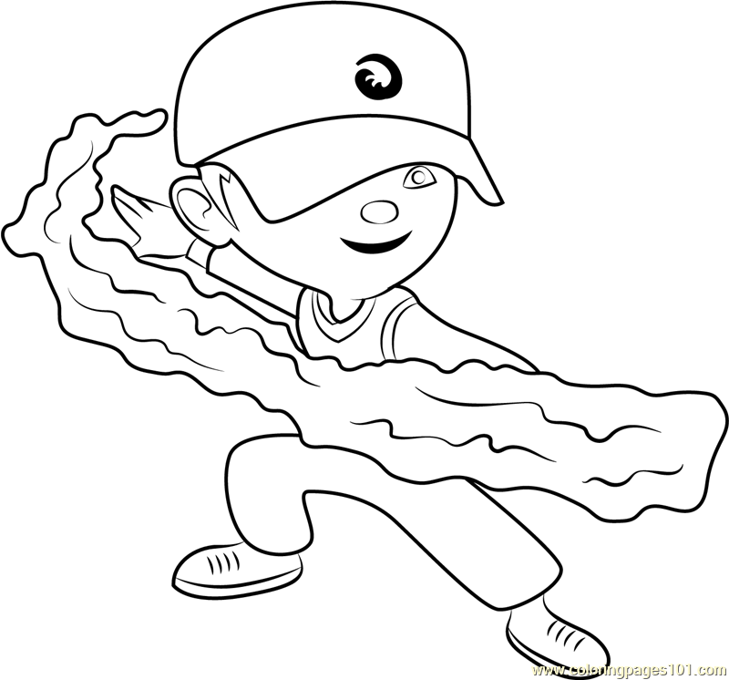 BoBoiBoy Water Coloring Page