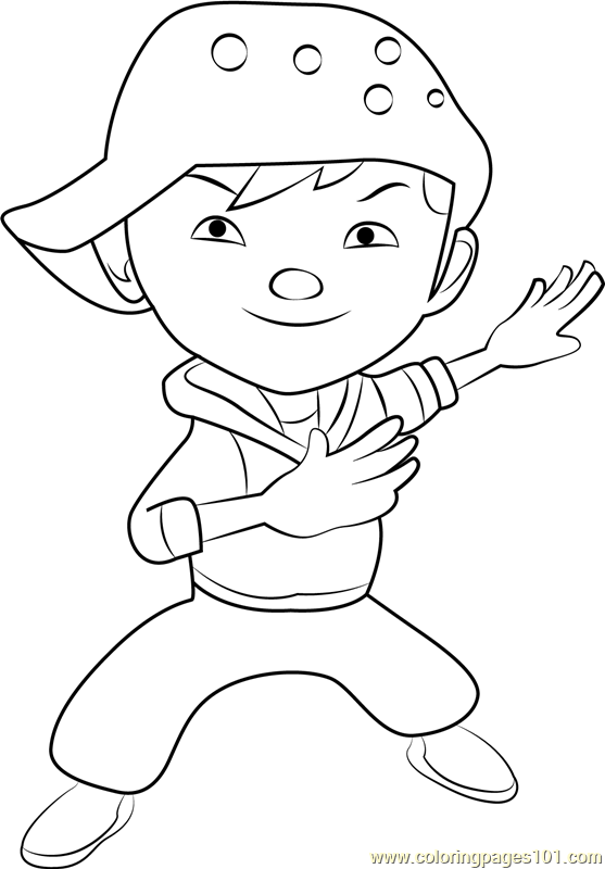 BoBoiBoy Wind Coloring Page