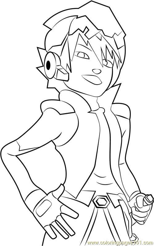 Captain Kaizo Coloring Page