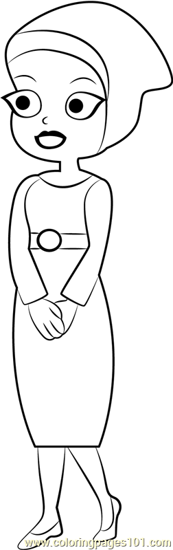 Mama Zila Coloring Page