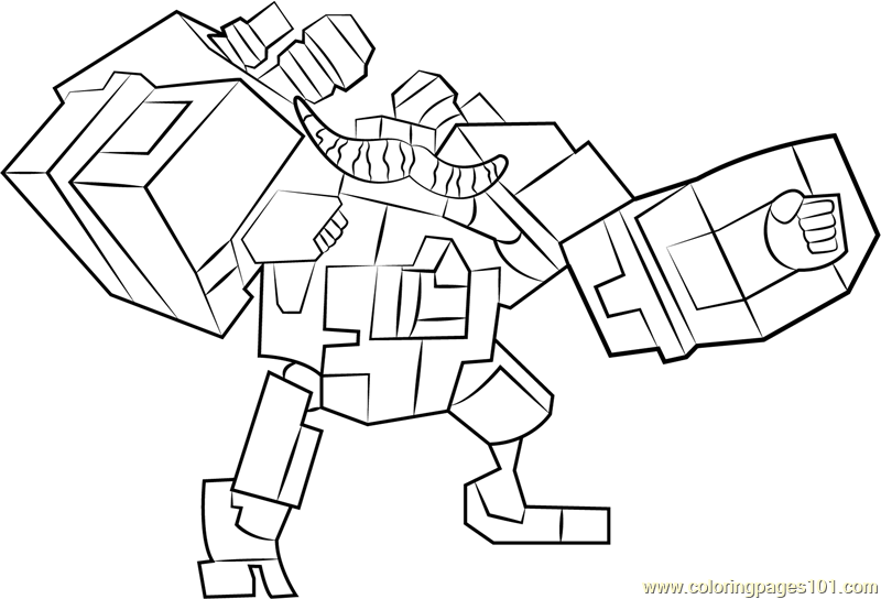 Megabot Scambot Coloring Page