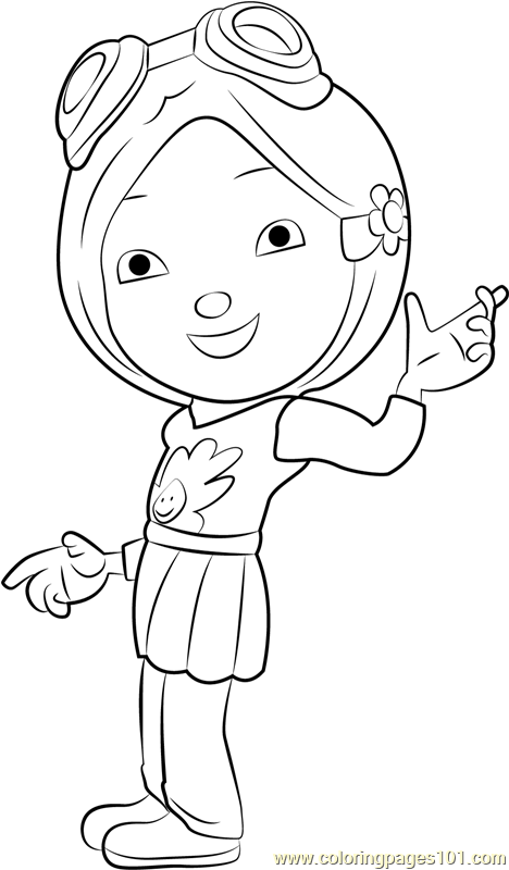 Yaya Yah Coloring Page Free BoBoiBoy