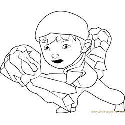 BoBoiBoy Earth Free Coloring Page for Kids