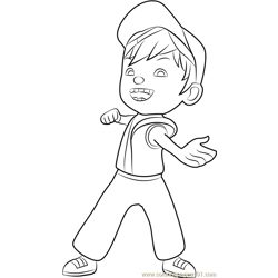 BoBoiBoy Fire coloring page