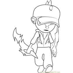 BoBoiBoy Lightning coloring page