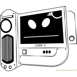 Computer Free Coloring Page for Kids