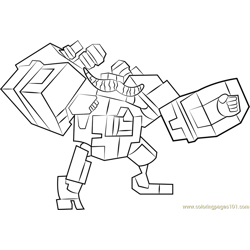Megabot Scambot Free Coloring Page for Kids