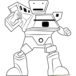 SampahBot coloring page