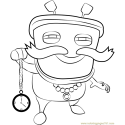 Wak Baga Ga Free Coloring Page for Kids