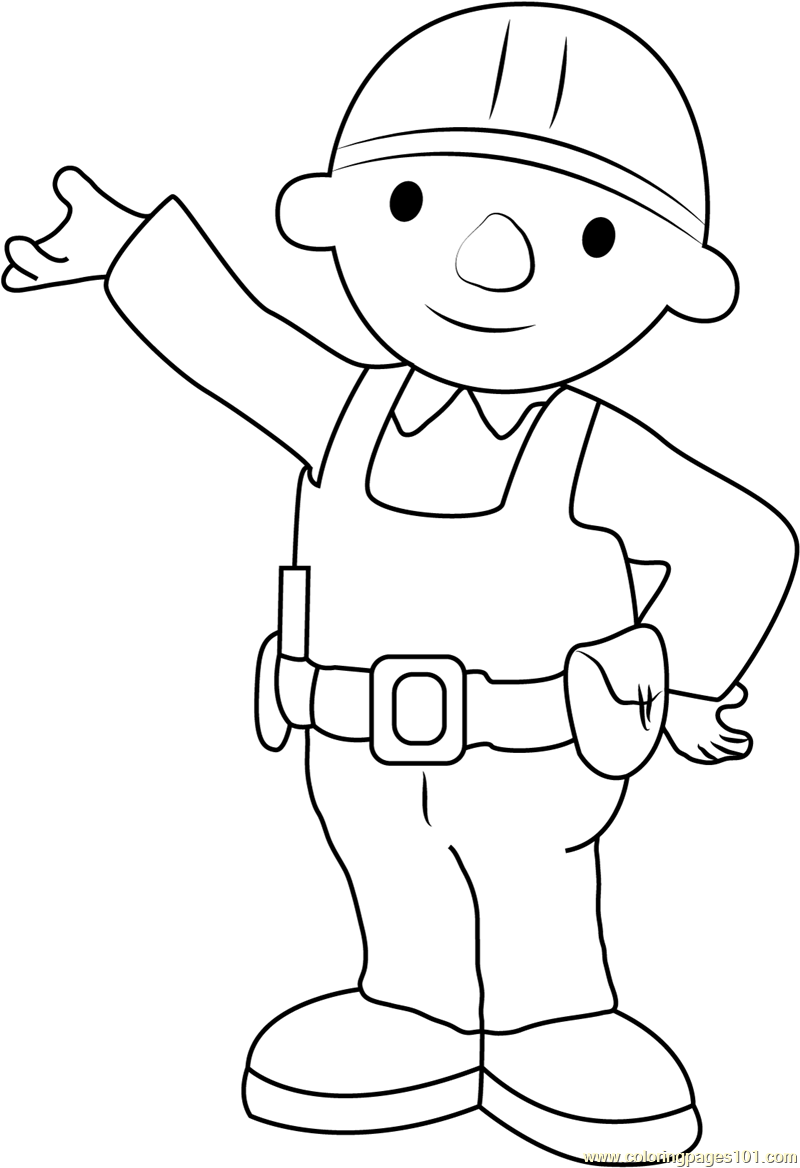 Bob the Builder Showing Something Coloring Page