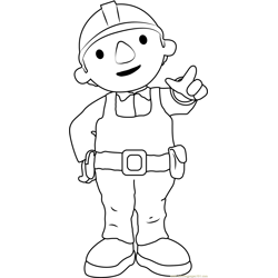 Bob the Builder is Coming Free Coloring Page for Kids