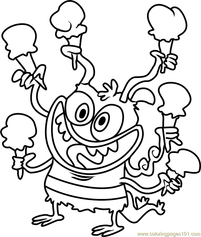 Bunsen Coloring Page