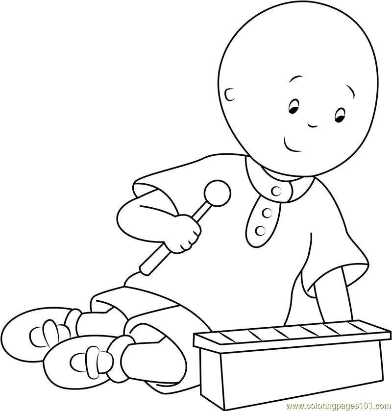 Caillou Coloring Picture Sketch Coloring Page