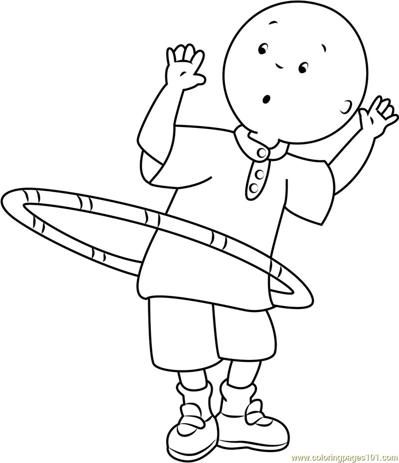 Caillou Playing With Ring Coloring Page