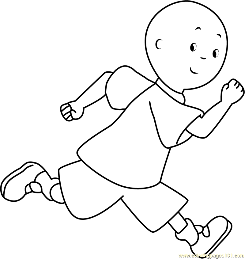 Caillou Running Coloring Page - Free Caillou Coloring Pages ...