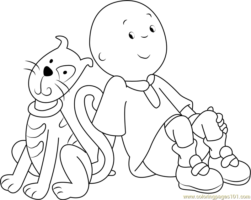 Caillou coloring pages gilbert