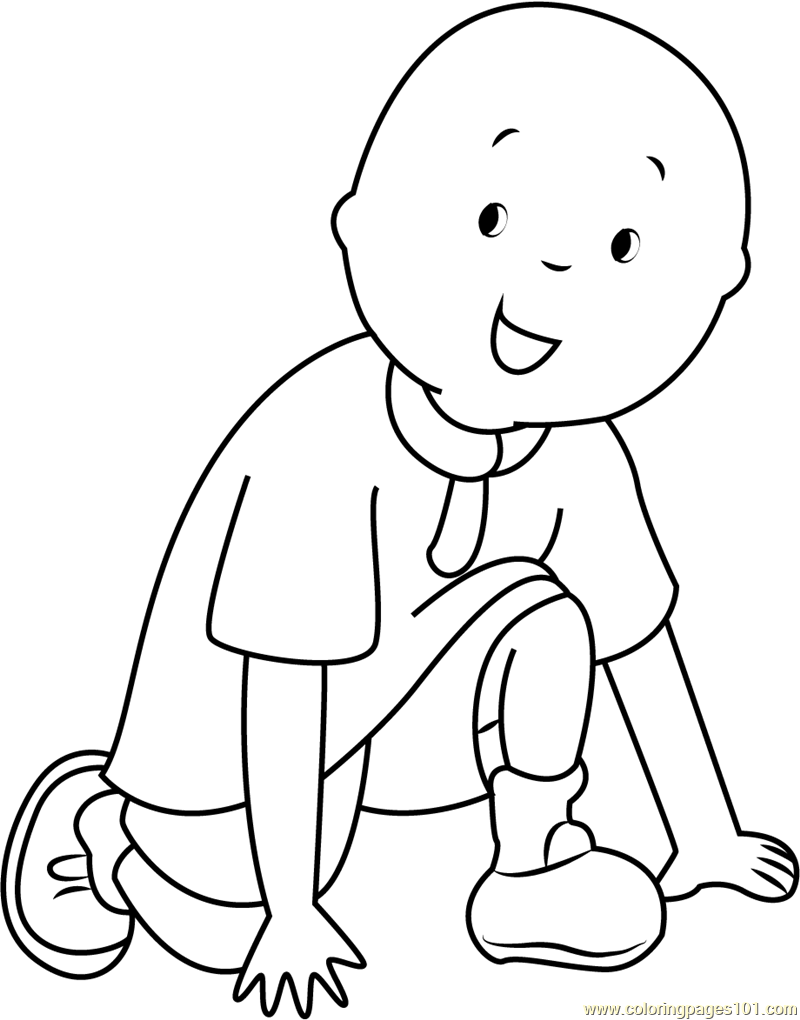 caillou coloring page free caillou coloring pages coloringpages101 com Strawberry Shortcake Coloring Pages  Caillou Coloring Pages Online