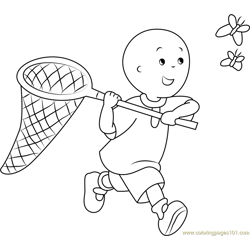 Caillou Catching a Butterfly