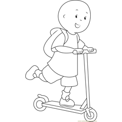 Caillou Going to School