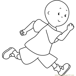 Caillou Running