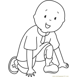 Caillou Free Coloring Page for Kids