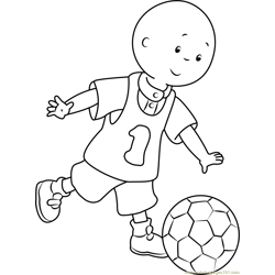 Caillou playing Football