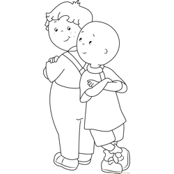 Standing Back to Back Free Coloring Page for Kids