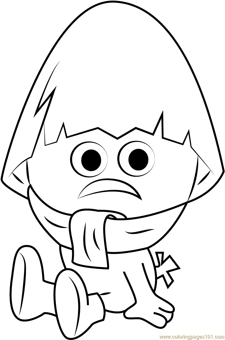 Nervous Calimero Coloring Page