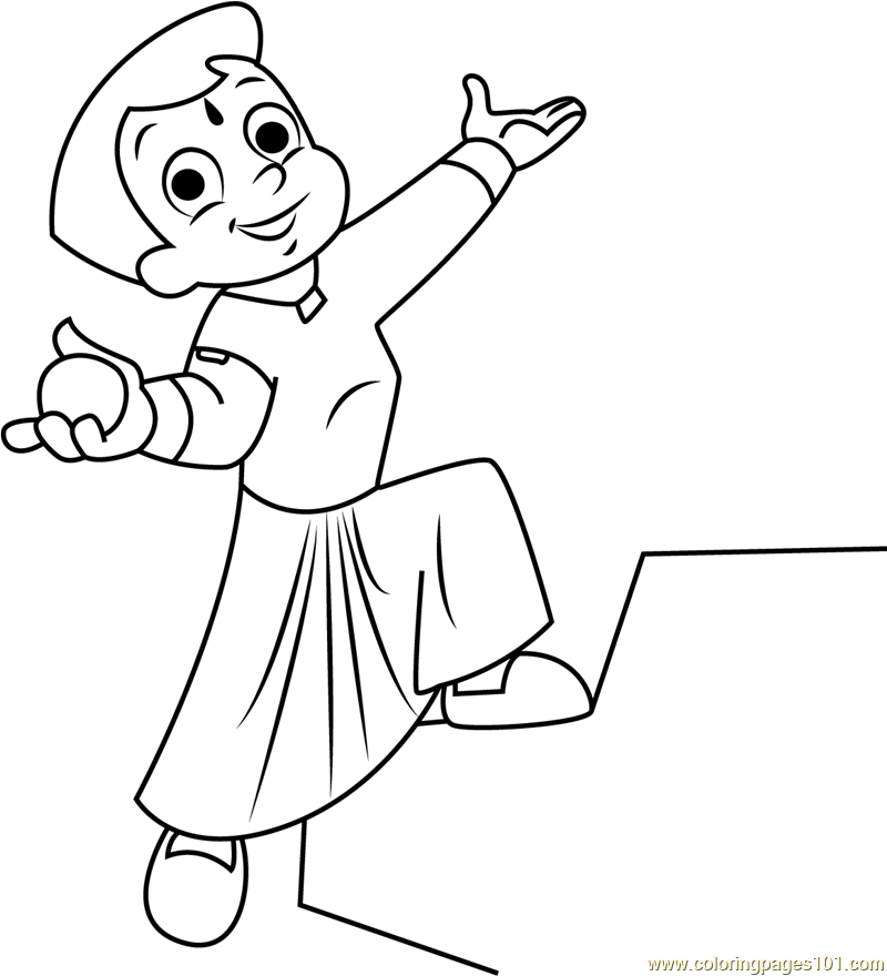 Chhota Bheem Coloring Pages Games. Chhota Bheem having Laddu Coloring Page  Free Chota