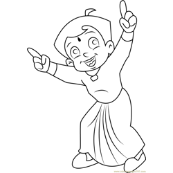 Dancing Chhota Bheem coloring page