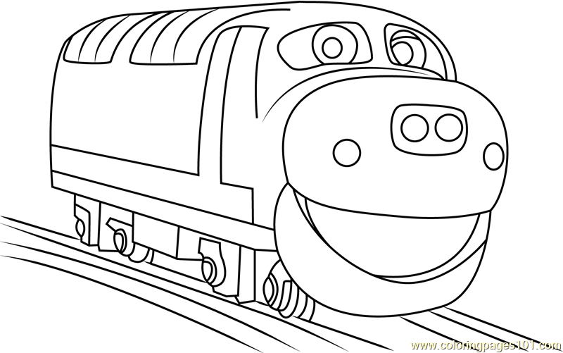 brewster running coloring page free chuggington coloring pages